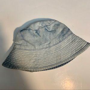 Betmar New York Cotton Blue Denim Bucket Sun Hat